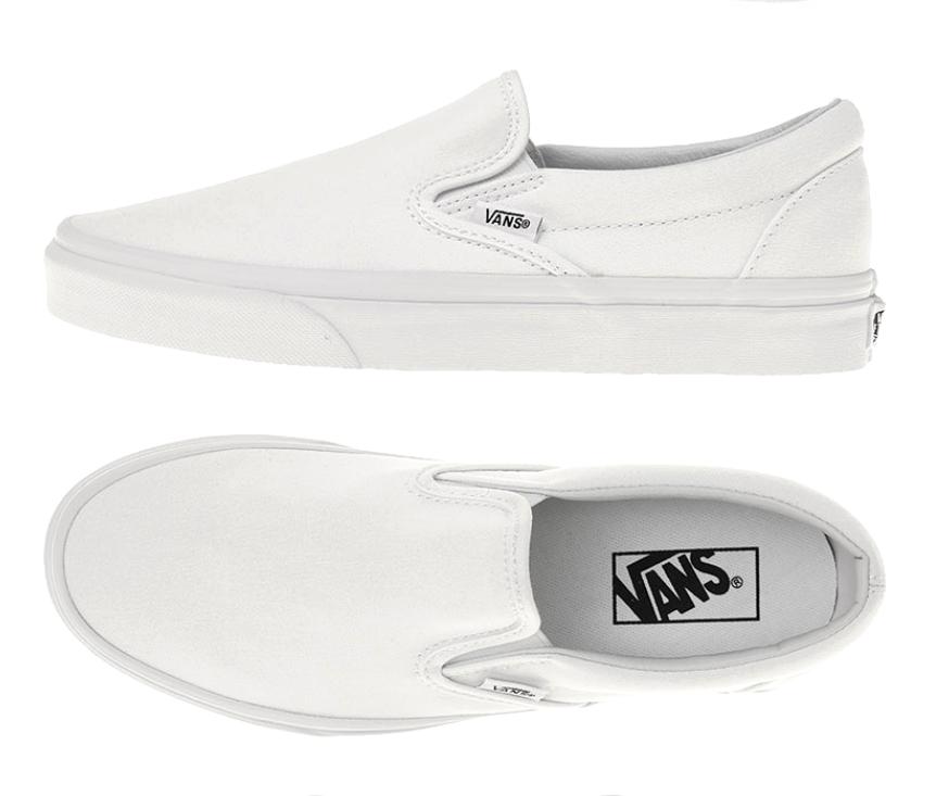 Vans Nuevo Auténtico Clásico Slip On Vn 000 Eyew 00 Hombres blancoo Zapatillas De Lona Casual