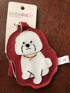 2 Pack Luggage Tags Bichon Frise Handbag Tag For Travel Tags Accessories