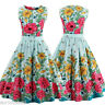 Womens Vintage 50s 60s Rockabilly Swing Housewife Cocktail Dress Party Plus Size