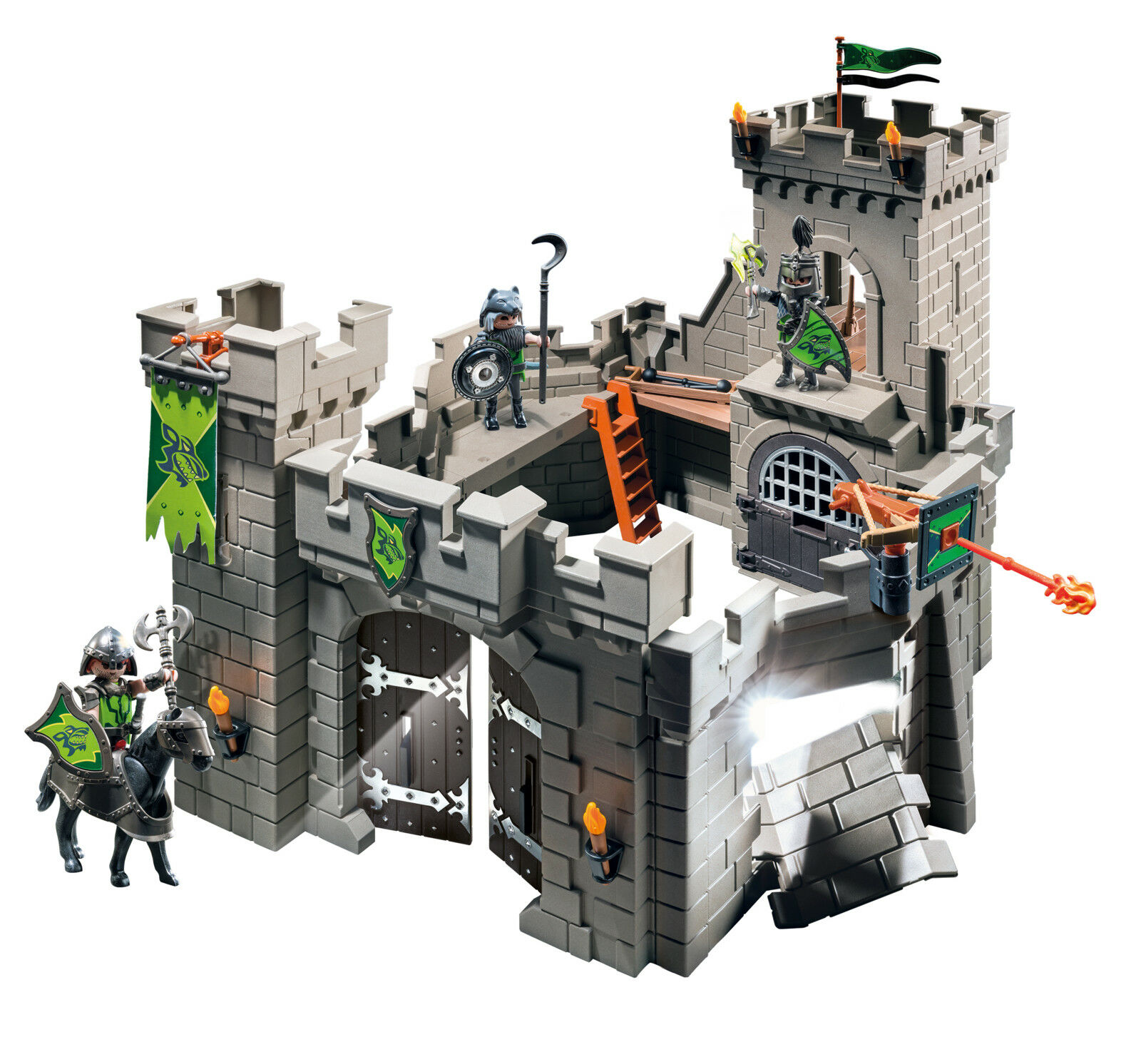 PLAYMOBIL Wolf Knights' Castle Building Set Toys Games