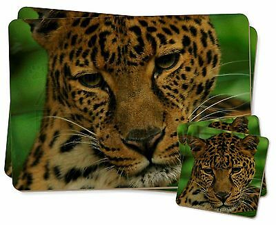 A Gorgeous Leopard Twin 2x Placemats+2x Coasters Set In Gift Box, At-54pc