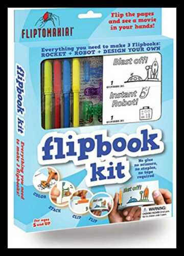 Flipbook Animation Kit Rocket /& Robot FREE SHIPPING Toys Games