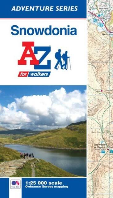 A-Z Snowdonia Adventure Atlas (Paperback, OS 25000 Mapping)