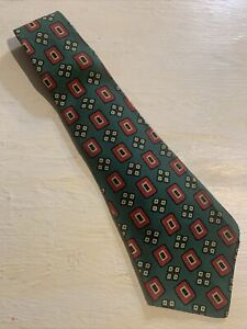 Vtg-1940s-40s-Botany-100-Wool-Swing-Tie-Wide-Short-Geometric-VLV-46-4-5