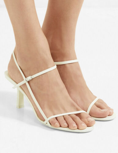 THE ROW Bare leather sandals in white US 7