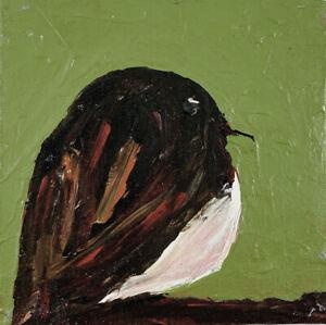 Wren Bird Miniature Animal Art Little Bird Painting Katie Jeanne Wood