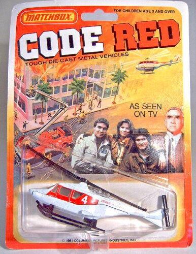 - MATCHBOX SUPERFAST USA -  Codice rosso  serie Elicottero