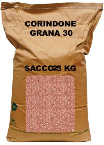 CORINDONE SABBIATRICE GRANIGLIA GRANA 30 PER SABBIATURA SACCO DA 25  KG