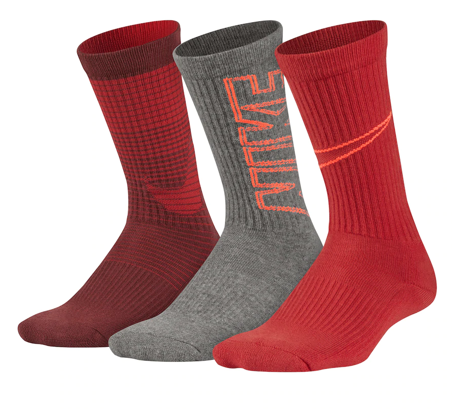 Útil Puntualidad escucho música  Boys Nike Performance 3-Pack Crew Socks 7612 Size Small for sale online