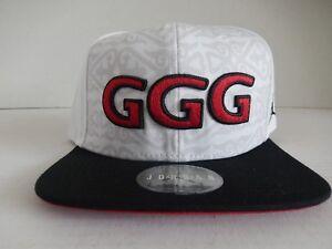 NIKE GENNADY GGG GOLOVKIN JORDAN BRAND HAT WHITE-BLACK-RED RARE ... cecd17f61ad