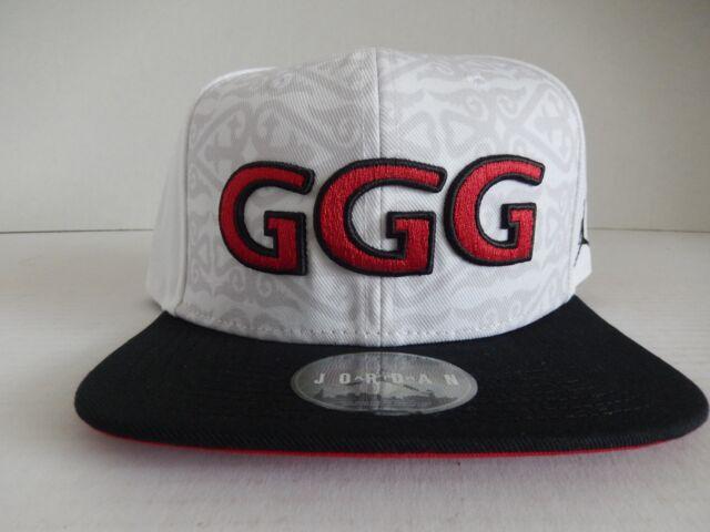 1c54c0b6418e Nike Gennady GGG Golovkin Jordan BRAND Hat White Black Red Aq9329 ...