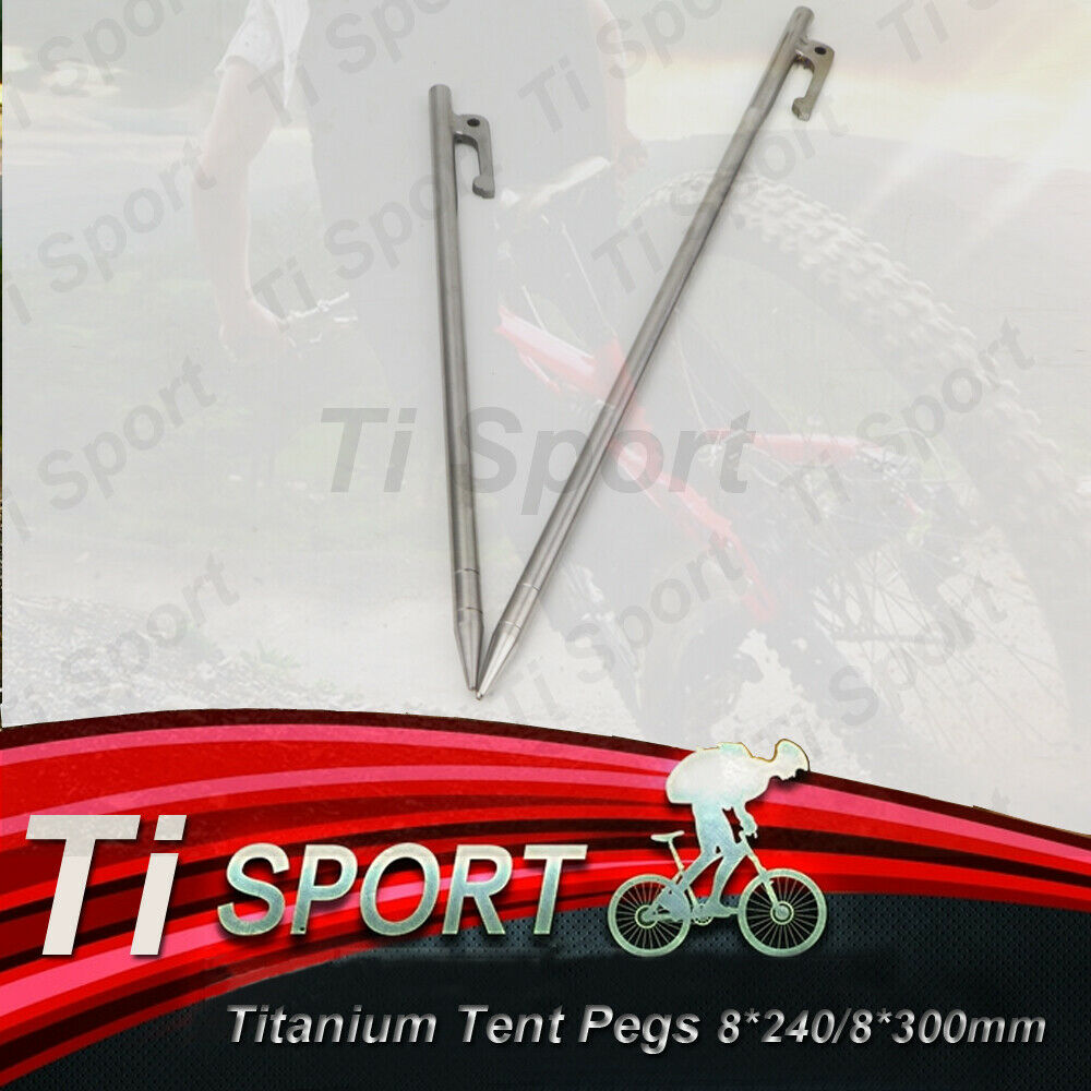 TiSport Titanium Alloy Outdoor Camping Tent Pegs Stakes Nail Braw 8240 8300mm