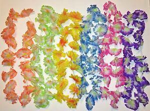 12-Hawaiian-Leis-Flower-Jumbo-Silk-Party-Favor-Beach-Tropical-Wedding-Supplies