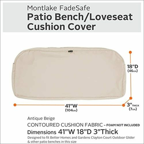Classic Accessories Montlake Water-Resistant 41 X 18 3 Inch Patio Bench//Settee