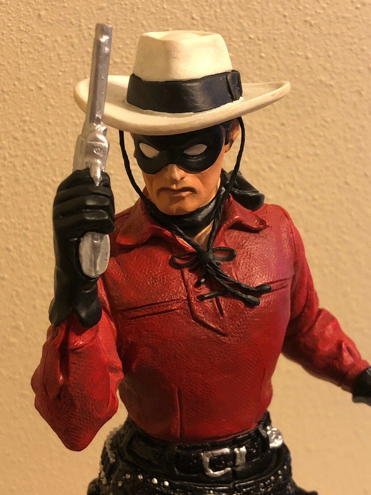 ELECTRIC TIKI LONE RANGER RETRO RED Variant Statue Maquette 177 200 Autographed