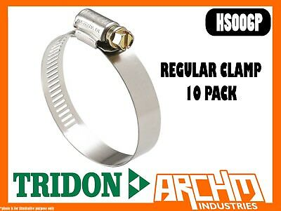 TRIDON HAS006P REGULAR CLAMP HOSE 10 PACK 11MM-22MM PERFORATED ALL STAINLESS