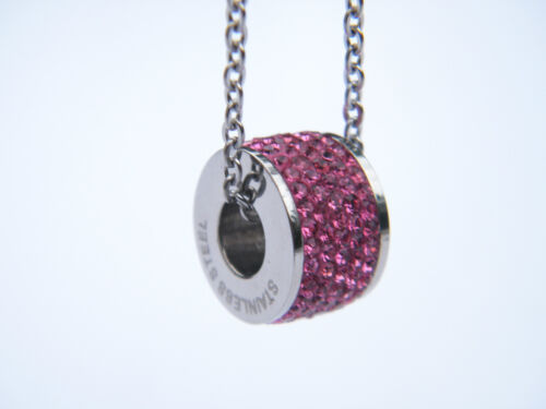 WOMENS LADIES PENDANT NECKLACE WITH CRYSTALS JEWELLERY NECKLACE
