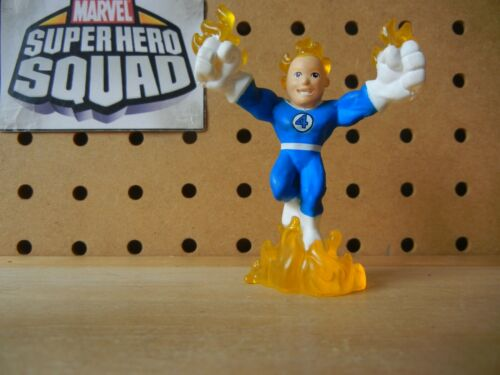 Marvel Super Hero Squad HUMAN TORCH Variant Blue White from Collector/'s Pack 1