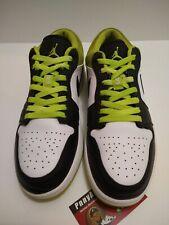 Jordan 1 Low Mens Shoe Size 9.5 553558-105 White Metallic ...