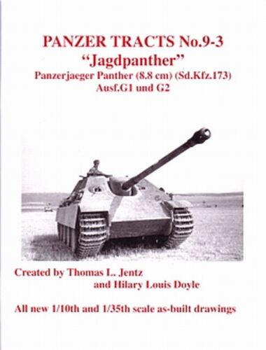 Jagdpanther Ausf Panzer Tracts 9-3 G1/&G2 Panzer-Modellbau//Pläne//Bilder//Profile