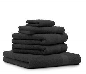 Betz-Lot-de-5-serviettes-Premium-couleur-noir-100-coton