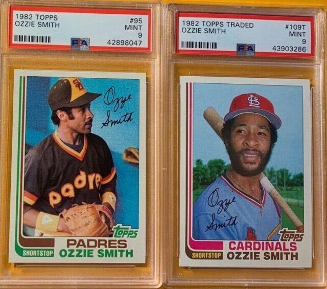 1982 Topps Baseball Ozzie Smith 93 109t Both Psa 9 Newly Graded 2 Card Lot