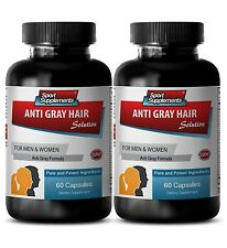 Reverse Hair Loss Supplements - Anti-Gray Hair Solution 1500mg - Biotin 2B