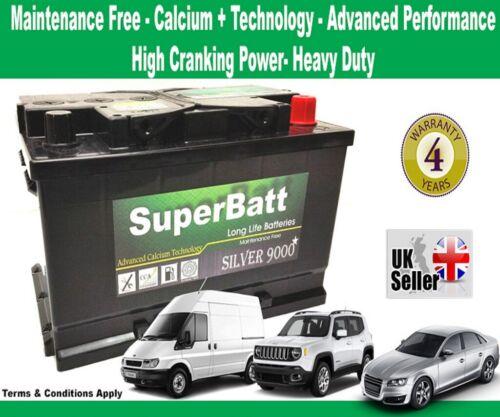 SuperBatt 096 CHECK SIZE PEUGEOT 206 307 406 407 607 2.0 DIESEL CAR BATTERY