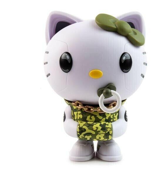 Green Camo Hello Kitty TEQ63 Vinyl Figure by Quiccs x Sanrio x Kidrobot - IamRet