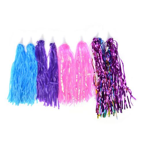 2 pcs Handlebar Streamers Tassels For Kids Bicycle Bike Cycling Tricycle Gift YL