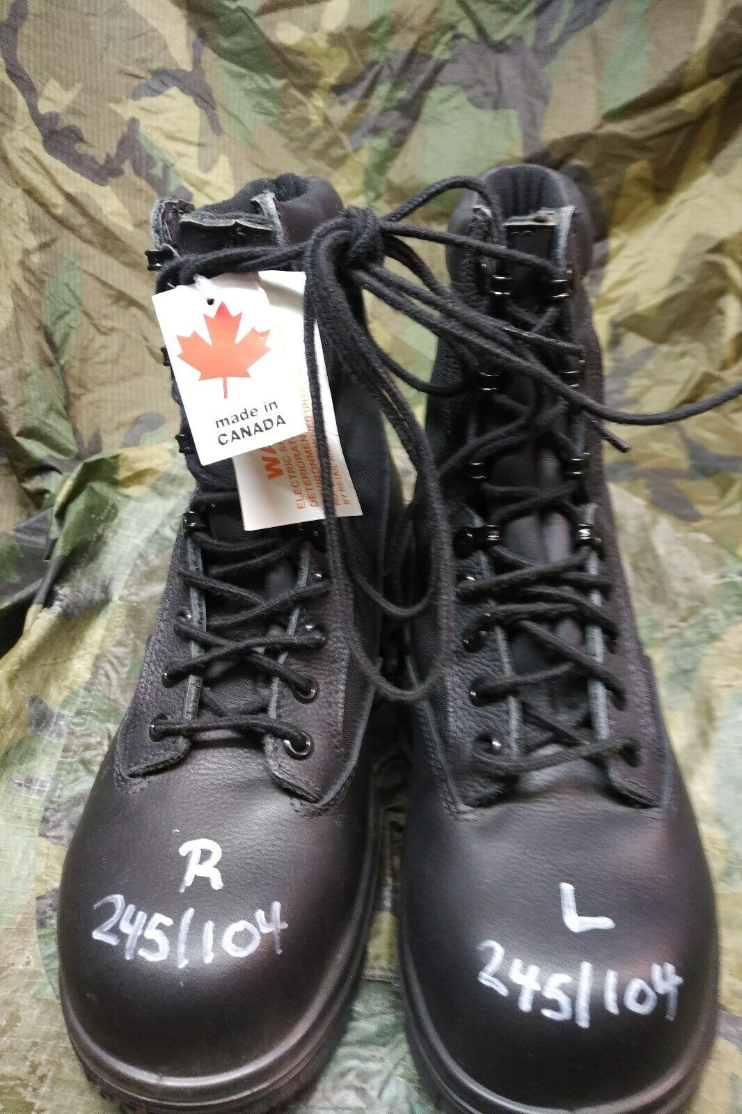 Canadian Navy Cold Wet Weather Safety Boots Size 235 100 GORETEX lined CSA