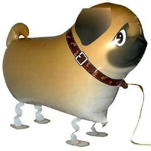 Children-Walking-Foil-Pet-Pug-Dog-Balloon-Helium-Fun-Party-Birthday-De3cr
