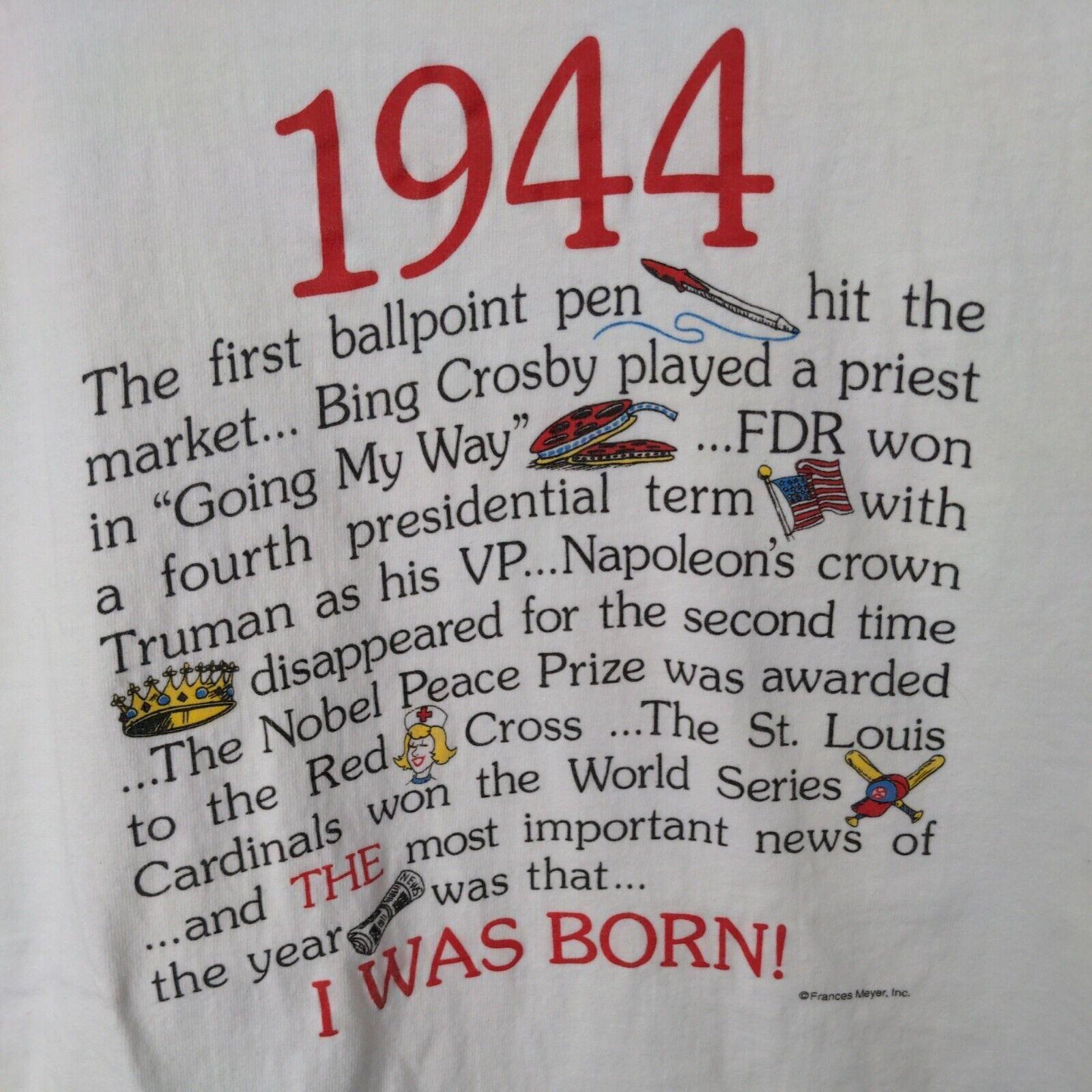 Vintage Single Stitch 1944 I Was Born Frances Mey… - image 4