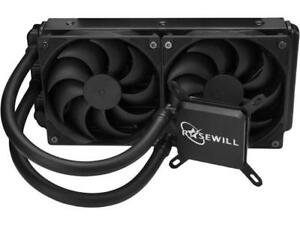 Rosewill CPU Liquid Cooler, Closed Loop PC Water Cooling, Quiet Dual 120mm PWM F