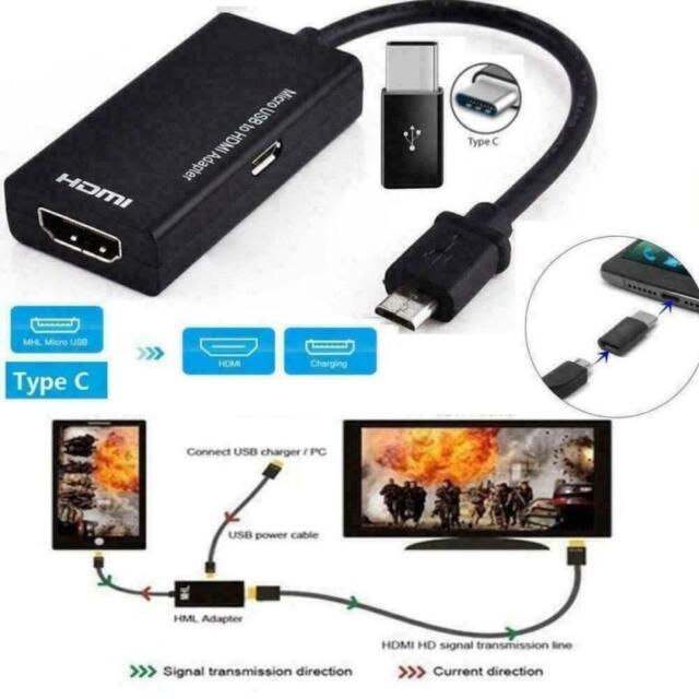 for Universal Android PHONES MHL Micro USB to HDMI 1080p HD TV Cable Adapter