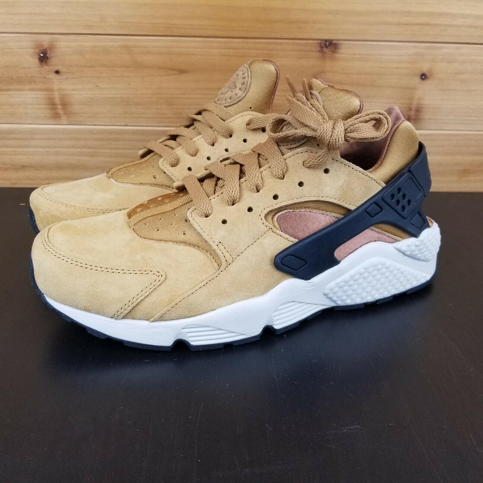 Nike Air Huarache PRM  Men's shoes Sz 9 WHEAT BLACK-LIGHT BROWN 704830-700