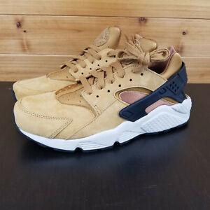 Nike-Air-Huarache-PRM-Men-039-s-Shoes-Sz-8-WHEAT-BLACK-LIGHT-BROWN-704830-700