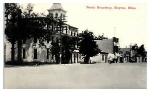 Early-1900s-North-Broadway-Slayton-MN-Postcard