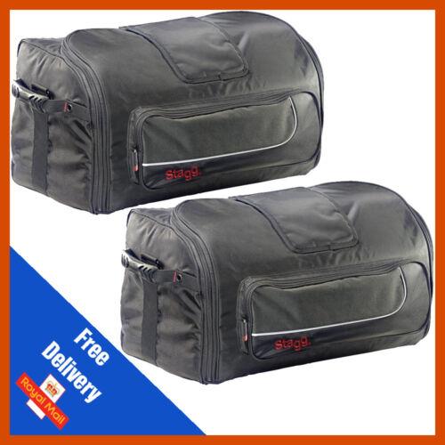 "2 x Stagg SPB-12 12/"" PA Speaker Bag Cover Padded Soft Gig Bag Carry Case"