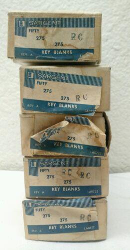 NEW OLD STOCK BULK QTY 50 ORIGINAL Sargent 275 RC 5-Pin Key Blanks Steampunk