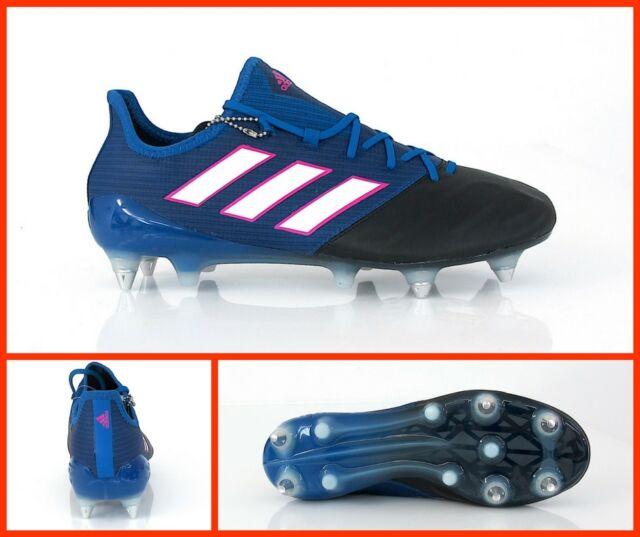 890520e11 ADIDAS football shoes ACE 17.1 LEATHER SG BA9192 col. Blue NOIR february  2017
