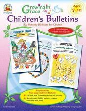 Growing in Grace Children's Bulletins, Grades Preschool - K: 52 Worship Bulleti