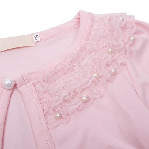 Kid Girl Beaded Bolero Jacket Shrug Short Cardigan Wedding Party Jacket Cover Up