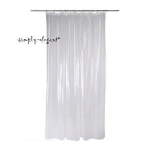 Image Is Loading IKEA Shower Curtain Liner Transparent Clear White 100