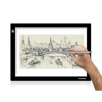 """Huion 17.7"""" L4S A4 Thin Translucent Drawing Board Led Light Pad Copy Tracing Box"""