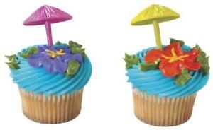 SURFING LUAU CupCake Cake Topper 12 18 24 Decoration Kit ...