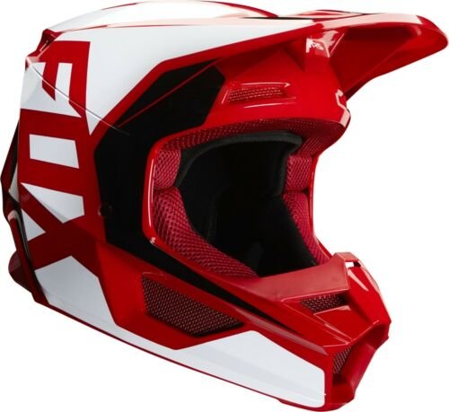 Fox V1 PRIX Motocross MX OffRoad Race Helmet FLAME RED Adult