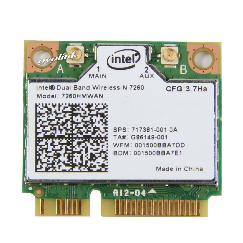 Intel Dual Band Wireless-N 7260hmw AN Bluetooth 4.0 For HP SPS 717381-001