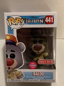Funko POP Baloo Disney's Talespin #441 Flocked Target Exclusive Figure 2018 New