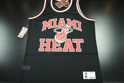3338A-314 black $50.00 Mitchell And Ness Miami Heat Back Screen Tee